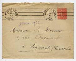 1932--St DENIS SUR SEINE-(93)Belle Empreinte Oblitération Mécanique Type Semeuse  Vignette Tuberculose 1931--LUISANT-28- - Erinnofilia