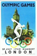 JO 186 - Belle Carte Postale Pour Illustrer Une Collection Des Jeux Olympiques De Londres 1948 - Sommer 1948: London