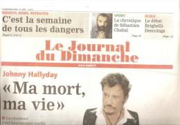 Johnny Hallyday Le Journal Du Dimanche  Ma Mort, Ma Vie - Autres