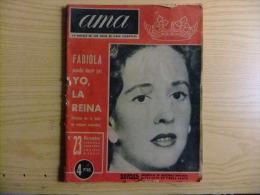 Boudewijn Baudouin Fabiola Huwelijk Mariage Matrimonio REVISTA AMA 110 Paginas Año 1960 - [4] Temas