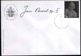 Poland Pologne, Pope/pape John Paul II. 25th Anniversary Of Pontificate, Silver Stamp, FDC, Joint Issue With Vatican - Papi
