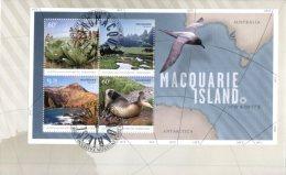 (501) Australia FDC - Premier Jour Australie - Antractic Territory - Macquarie Island Mini-sheet - FDC