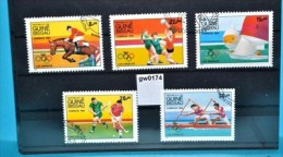 Gw0174 Olympiade 1984 Los Angeles, Handball, Hockey, Kajak, Guinea Bissau 1984 - Guinea-Bissau