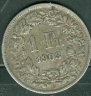 Lot Pièce 1 Franc Suisse Argent 1903- Argent /silver  - Pia4502 - Suisse