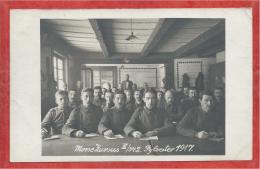 Carte Photo Militaire Allemande - MORSE KURSUS - Cours De Morse - Guerre 14/18 - Soldats Allemands - Guerra 1914-18
