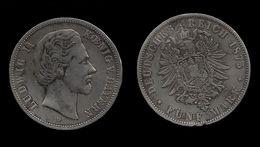 ALLEMAGNE . LOUIS II . (1864 .  1886 ) . 5 MARK . 1875 D . - [ 2] 1871-1918: Deutsches Kaiserreich