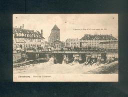 Strasbourg - Pont De L' Abattoir ( Caserne Du Régiment D'infanterie Saxon N°105 éditeur ??) - Strasbourg