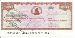 ZIMBABWE  100000 DOLLARS 2003 AUNC P 20 - Zimbabwe