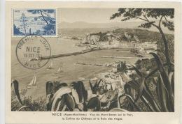 NICE (Yv. N°1038) Carte Maximum / 1955 - 1950-59