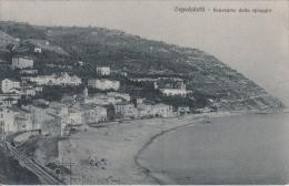 OSPEDALETTI LIGURE-IMPERIA-PANORAMA DALLA SPIAGGIA VISTA FERROVIA-VIAGGIATA 8-APRILE 1930.-ORIGINALE 100% - Imperia