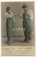 CPA Die Geschenkte Cigare  - Cadeau D Un Cigare ...Tabac - Dos Simple Voyagé Début 1903 - Cigares - Accessoires