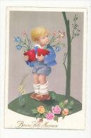 Bonne Fête Maman. Petit Garçon, Pots De Fleurs Et Papillon. Signée Varo.  Editions UNIVERS Paris. C.y.Z. - Fête Des Mères