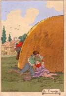 ILLUSTRATEUR MARCEL JEANJEAN.LES PECHES CAPITAUX.L'ENVIE. - Andere Illustrators