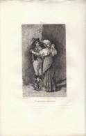 Les Danseurs Italiens - Eau-forte De Lemaire D´après Le Tableau De Léon Bonnat - FRANCO DE PORT - Stampe & Incisioni