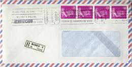 MADRID CC CERTIFICADA CON MAT RODILLO SELLOS BASICA - 1981-90 Cartas