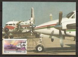 Afrique Du Sud Transkei 1987 N° 197 / 200 O FDC, Avions, Aviation, Umtata, Tour De Controle, Mantanzima, Beechcraft - Transkei