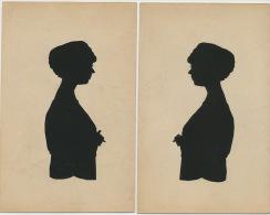 Ombres Chinoises Decoupage Et Collage Meme Femme De Profil 2 Cartes Shadow Show - Tegenlichtkaarten, Hold To Light