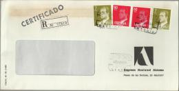 MADRID CC CERTIFICADA CON SELLOS BASICA JUAN CARLOS I - 1931-Hoy: 2ª República - ... Juan Carlos I