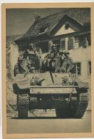 """Char Tank """" Alsace """" En Allemagne 1ere Armée Française - Guerre 1939-45"""