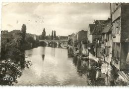Argenton Sur Creuse Le Pont Neuf Et Les Vieilles Galeries Scan Recto Verso - Autres Communes