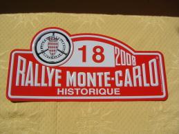 "Plaque De Rallye ""RALLYE MONTE CARLO HISTORIQUE 2008"" - Plaques De Rallye"