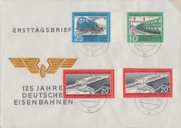 DDR Brief Minr.804C, 805A, 805B, 806C FDC 5.12.60 - Briefe U. Dokumente