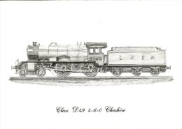Railway Sketch Print LNER D49 2753 Cheshire 4-4-0 Loco - Prints & Engravings