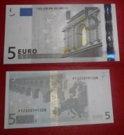 OLANDA HOLLAND 5 EURO 2002 TRICHET SERIE P 12220791328 E004B1 AUNC QFDS NEDERLAND NETHERLANDS - EURO