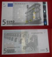 OLANDA HOLLAND 5 EURO 2002 TRICHET SERIE P  25834281778 E009G6 AUNC QFDS NEDERLAND NETHERLANDS - EURO