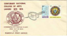 PAKISTAN 1976 FDC MNH CENTENARY NATIONAL COLLEGE OF ARTS 1875-1975 PAKISTAN FIRST DAY COVER - Pakistan