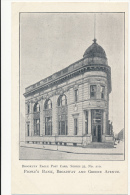 BROOKLYN EAGLE POST CARD, SERIES 35, No. 210 - PEOPLE'S BANK, BROADWAY AND GREENE AVENUE - UDB - Unclassified