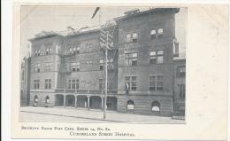 BROOKLYN EAGLE POST CARD, SERIES 14, No. 82 - CUMBERLAND STREET HOSPITAL.  - UDB - Unclassified