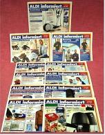 11 X ALDI Informiert 2004 Reklame Prospekte  - Insgesammt  Ca. 85 Seiten Großformat - Reklame
