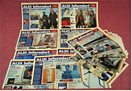 26 X ALDI Informiert Von 2004 / 2005 Reklame Prospekte  - Insgesammt  Ca. 200 Seiten Großformat - Reklame