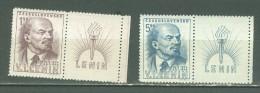 Tchécoslovaquie   Michel  562/563zf    * *    TB   Lenine - Checoslovaquia