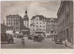 Brno - Námesti 25. února:  OLDTIMER VOITURES/AUTO´S & TRUCK - Market & Streetscene-Auto/Car/Voit Ure - Ceskoslovensko - Turismo