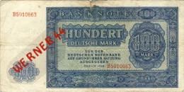 Deutsche Notenbank Von 1948 --- 100 Mark   (033) - [ 6] 1949-1990 : GDR - German Dem. Rep.