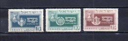Israel   1949  .-   Y&T  Nº    18/20 - Israel