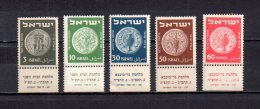 Israel   1951-52  .-   Y&T Nº   37 - 39 - 41 - 42 - 60   ** - Israel