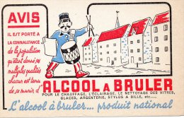 - BUVARD ALCOOL à BRULER  - 159 - Gas, Garage, Oil
