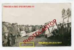 Avion Anglais-NIEUPORT 23-A6678-LEDEGEM-TEN BRIELEN-JASTA 18-3 CARTES PHOTO-Guerre 14-18-1 WK-BELGIEN-AVIATION-MILITARIA - Ledegem