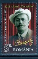 RUMANIA / ROMANIA / ROUMANIE  Año 2012   Yvert Nr. Usada  Ion Luca Caragiale - 1948-.... Repúblicas