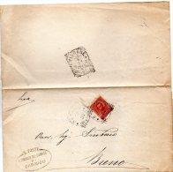 1900   LETTERA CON ANNULLO SARNICO BERGAMO - 1900-44 Victor Emmanuel III