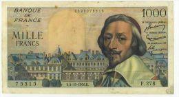 1000 Frs Richelieu, Ref Fayette 42/22, état TTB+ - 1 000 F 1953-1957 ''Richelieu''