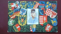 L'empereur Entouré Des Armes Des 22 Pays Datée De 1908 - Ansichtskarten