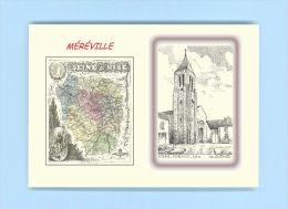 CP MD 91345 - CARTE POSTALE DESSIN / Département - 91 MEREVILLE - Mereville