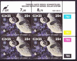 Ciskei - 1991 - Solar System, Space, Planetoids In The Asteroid Belt, - Single Control Block - Space