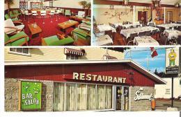 Restaurant Au Sablonet, Riviere-Du-Loup, Quebec Salle A Manger, Cuisine Canadienne Specialities Mets Chinois - Quebec