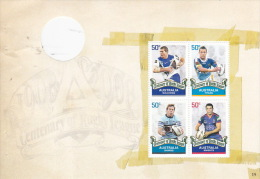 Australia 2008 Rugby League Centenary, Bulldogs, Titans, Sharks, Knights Sheetlet  MNH - Blocks & Sheetlets