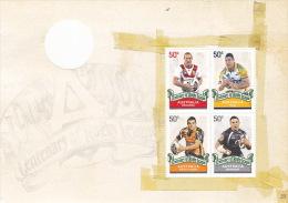 Australia 2008 Rugby League Centenary, Dragons, Eels, Wests Tigers, Warriors, Sheetlet  MNH - Blocks & Sheetlets